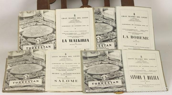Libretos de ópera: 7728 - LOTE DE 41 PROGRAMAS MÁS 2 CARTELES DEL TEATRO DEL LICEO(VER DESCRIP). 1948/1956. - Foto 17 - 57768042