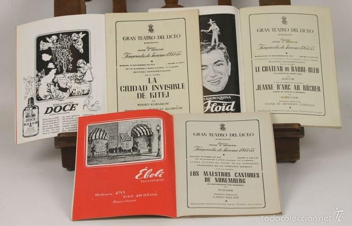 Libretos de ópera: 7728 - LOTE DE 41 PROGRAMAS MÁS 2 CARTELES DEL TEATRO DEL LICEO(VER DESCRIP). 1948/1956. - Foto 19 - 57768042