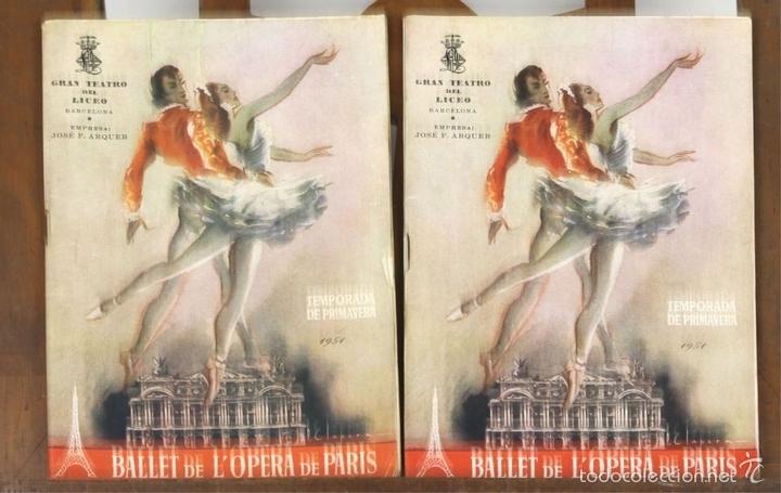 Libretos de ópera: 7728 - LOTE DE 41 PROGRAMAS MÁS 2 CARTELES DEL TEATRO DEL LICEO(VER DESCRIP). 1948/1956. - Foto 20 - 57768042