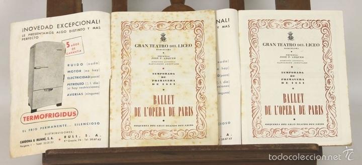Libretos de ópera: 7728 - LOTE DE 41 PROGRAMAS MÁS 2 CARTELES DEL TEATRO DEL LICEO(VER DESCRIP). 1948/1956. - Foto 21 - 57768042