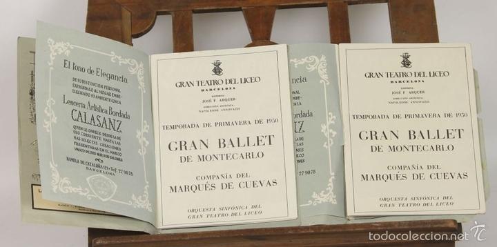 Libretos de ópera: 7728 - LOTE DE 41 PROGRAMAS MÁS 2 CARTELES DEL TEATRO DEL LICEO(VER DESCRIP). 1948/1956. - Foto 23 - 57768042