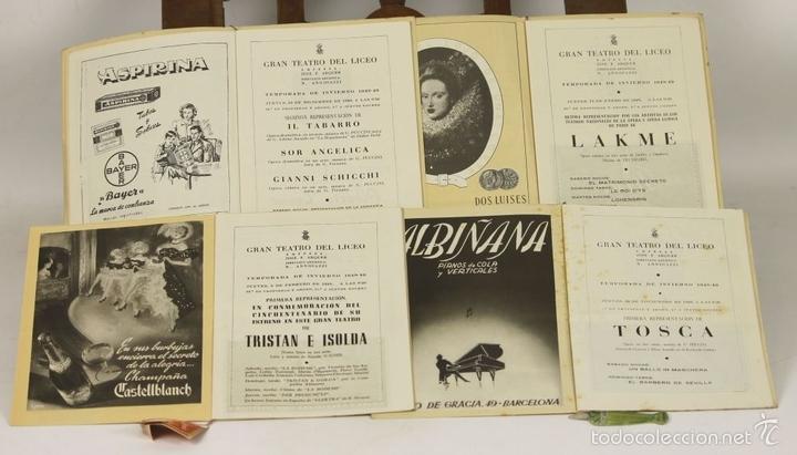 Libretos de ópera: 7728 - LOTE DE 41 PROGRAMAS MÁS 2 CARTELES DEL TEATRO DEL LICEO(VER DESCRIP). 1948/1956. - Foto 25 - 57768042