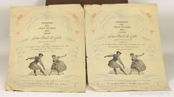 Libretos de ópera: 7728 - LOTE DE 41 PROGRAMAS MÁS 2 CARTELES DEL TEATRO DEL LICEO(VER DESCRIP). 1948/1956. - Foto 27 - 57768042