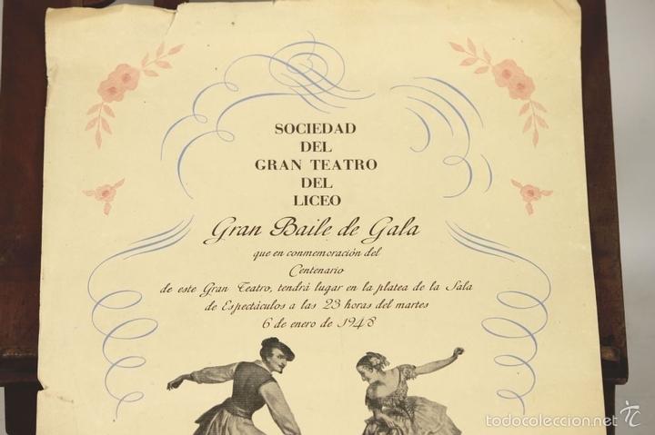 Libretos de ópera: 7728 - LOTE DE 41 PROGRAMAS MÁS 2 CARTELES DEL TEATRO DEL LICEO(VER DESCRIP). 1948/1956. - Foto 28 - 57768042