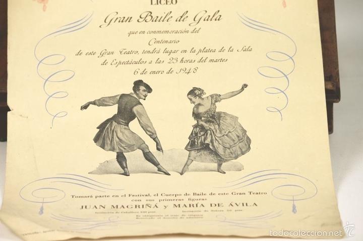 Libretos de ópera: 7728 - LOTE DE 41 PROGRAMAS MÁS 2 CARTELES DEL TEATRO DEL LICEO(VER DESCRIP). 1948/1956. - Foto 29 - 57768042