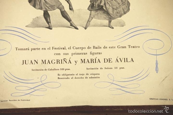Libretos de ópera: 7728 - LOTE DE 41 PROGRAMAS MÁS 2 CARTELES DEL TEATRO DEL LICEO(VER DESCRIP). 1948/1956. - Foto 30 - 57768042