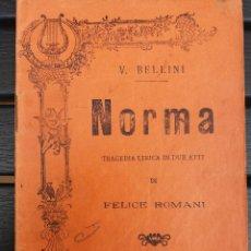 Libretos de ópera: LIBRETO EN ITALIANO, 1912, DE '' NORMA '', ÓPERA DE BELLINI. LIBRETTO DE FELICE ROMANI. Lote 57803958