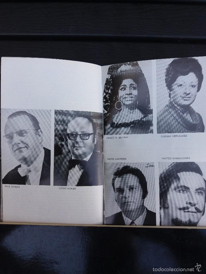 Libretos de ópera: LIBRETO LICEO BARCELONA, 1975,'' CARMEN '', ÓPERA DE BIZET. CON PEDRO LAVIRGEN - Foto 3 - 57810443
