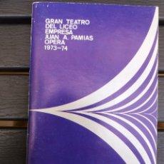 Livrets d'opéra: LIBRETO LICEO BARCELONA, 1973,'' CATERINA CORNARO '', ÓPERA DE DONIZETTI, CON M. CABALLÉ, J. ARAGALL. Lote 57829172