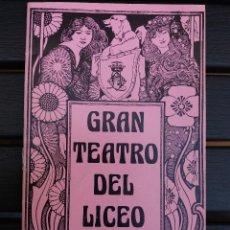 Livrets d'opéra: LIBRETO LICEO BARCELONA, 1976, '' GEMMA DI VERGY '', ÓPERA DE DONIZETTI, CON MONTSERRAT CABALLÉ. Lote 57830554