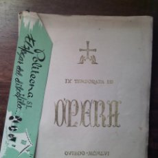Livrets d'opéra: IX TEMPORADA DE ÓPERA, OVIEDO 1956. ARTES GRÁFICAS GROSSI. TEATRO CAMPOAMOR.. Lote 57972414