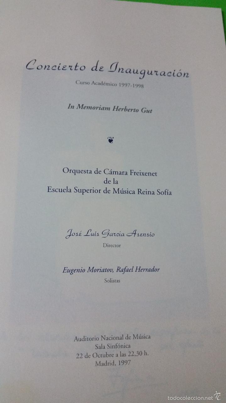Libretos de ópera: Escuela Superior de Música Reina Sofía Orquesta de Cámara Freixenet Inauguración Curso Académico - Foto 2 - 57994711