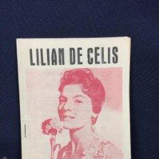Libretos de ópera: LILIAN DE CELIS EDICIONES QUIROGA CANCIONERO LIBRETO ARTISTA 15X10,5CMS. Lote 58607874