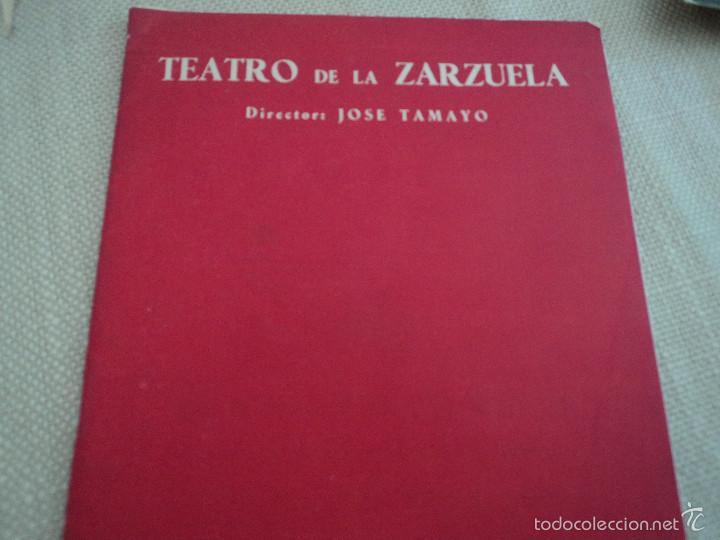 PROGRAMA TEATRO DE LA ZARZUELA DE MADRID 1956 LINA HUARTE ALFREDO KRAUS (Música - Libretos de Opera)