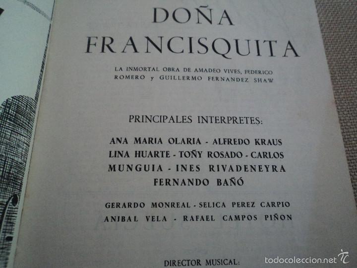 Libretos de ópera: programa teatro de la zarzuela de madrid 1956 lina huarte alfredo kraus - Foto 3 - 75494325