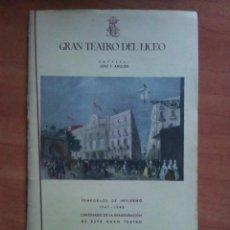 Libretos de ópera: LICEO BARCELONA - PROGRAMA ENERO 1948 - SADKO. Lote 61768848