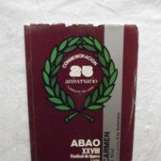 Libretos de ópera: XXVIII FESTIVAL DE OPERA 1979. Lote 63254156