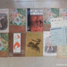 Libretos de ópera: GRAN LOTE PROGRAMAS ORIGINALES GRAN TEATRE DEL LICEU BARCELONA AÑOS 30 - 9 LIBTRETOS Y 5 FOLLETOS. Lote 63900491