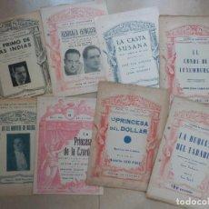 Libretos de ópera: GRAN LOTE 8 LIBRETOS SAINETES Y OTROS - AÑOS 30. Lote 63900767