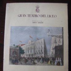 Libretos de ópera: GRAN TEATRO DEL LICEO. TEMPORADA OFICIAL DE INVIERNO 1947-1948. Lote 64097063