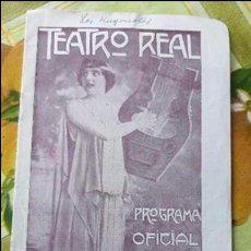 Libretos de ópera: ANTIGUO LIBRETO OPERA CONCIERTOS MUSIC TEATRO REAL ENTRE AÑOS 20 Y 30 DEL SIGLO XX MUCHA PUBLICIDAD. Lote 64281347
