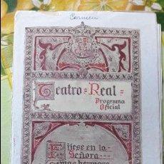 Libretos de ópera: ANTIGUO LIBRETO OPERA CONCIERTOS MUSIC TEATRO REAL ENTRE AÑOS 20 Y 30 DEL SIGLO XX MUCHA PUBLICIDAD. Lote 64282443
