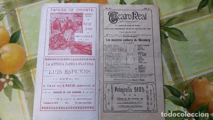 Libretos de ópera: antiguo libreto opera conciertos music teatro real entre años 20 y 30 del siglo xx mucha publicidad - Foto 2 - 64656491