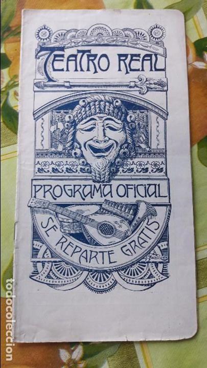 ANTIGUO LIBRETO OPERA CONCIERTOS MUSIC TEATRO REAL ENTRE AÑOS 20 Y 30 DEL SIGLO XX MUCHA PUBLICIDAD (Música - Libretos de Opera)