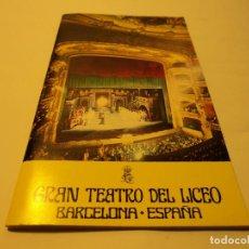 Libretos de ópera: PROGRAMA DEL GRAN TEATRO DEL LICEO BARCELONA LA BOHEME, TOSCA Y SIEGFRIED CARRERAS CABALLE. Lote 67301849