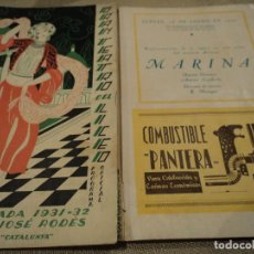 Libretos de ópera: GRAN TEATRO DEL LICEO BARCELONA MARINA 1932 MARIA ESPINALT. Lote 68776357