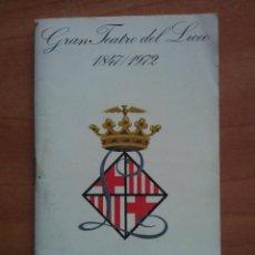 Libretos de ópera: 1971 - 1972 TEMPORADA LICEO BARCELONA. Lote 68788593