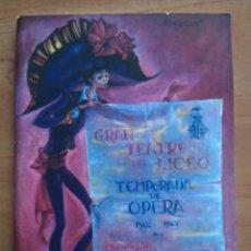 Libretos de ópera: 1966 - 67 TEMPORADA INVIERNO - TEATRO LICEO BARCELONA. Lote 68887849