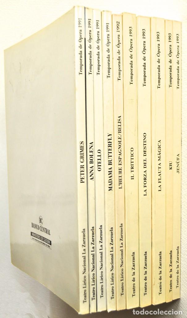 LOTE DE 10 LIBRETOS DE ÓPERA DEL TEATRO DE LA ZARZUELA. (Música - Libretos de Opera)
