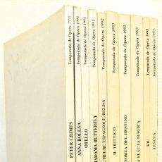 Libretos de ópera: LOTE DE 10 LIBRETOS DE ÓPERA DEL TEATRO DE LA ZARZUELA.. Lote 188703498