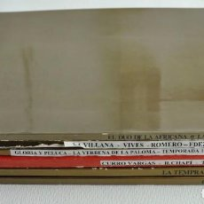 Livrets d'opéra: LOTE DE SEIS LIBRETOS DE ZARZUELA, DEL TEATRO DE LA ZARZUELA.. Lote 73820619