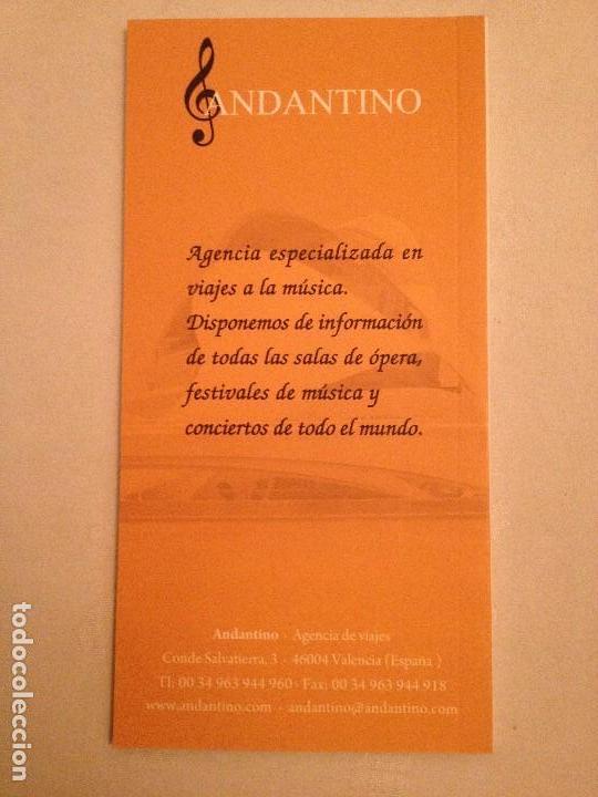 Libretos de ópera: LIBRETO DEL V FESTIVAL DEL MEDITERRANI, PALAU DE LES ARTS 2012 - Foto 2 - 77853009
