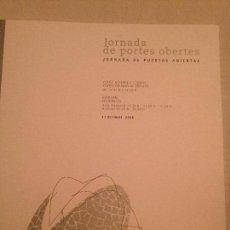 Libretos de ópera: LIBRETO PROGRAMA JORNADA DE PUERTAS ABIERTAS, PALAU DE LES ARTS 2008. Lote 77853105