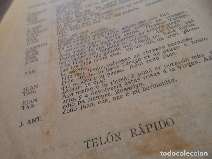 Libretos de ópera: LIBRETO DE LA ZARZUELA EN UN ACTO -EL PUÑAO DE ROSAS-, ARNICHES, 7ª EDICIÓN, AÑO 1907 - Foto 5 - 80857155