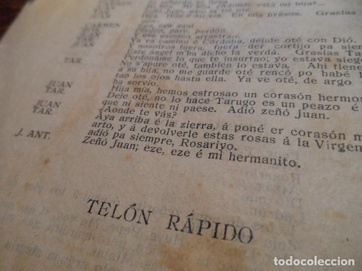 Libretos de ópera: LIBRETO DE LA ZARZUELA EN UN ACTO -EL PUÑAO DE ROSAS-, ARNICHES, 7ª EDICIÓN, AÑO 1907 - Foto 6 - 80857155