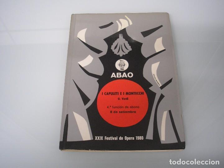 I CAPULETI E I MONTECCHI - G. VERDI - XXIX FESTIVAL DE ÓPERA 1980 - ABAO (Música - Libretos de Opera)