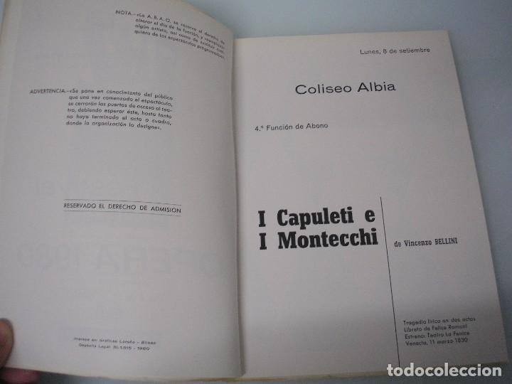 Libretos de ópera: I CAPULETI E I MONTECCHI - G. Verdi - XXIX Festival de Ópera 1980 - ABAO - Foto 4 - 83769520