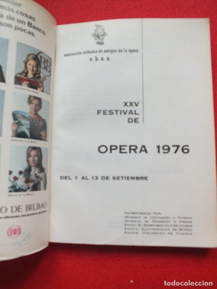 Libretos de ópera: ABAO BILBAO XXV FESTIVAL DE OPERA 1976 BIZET CARMEN LIBRETO CON ARGUMENTO, FOTOGRAFIA CORO - Foto 5 - 85056104