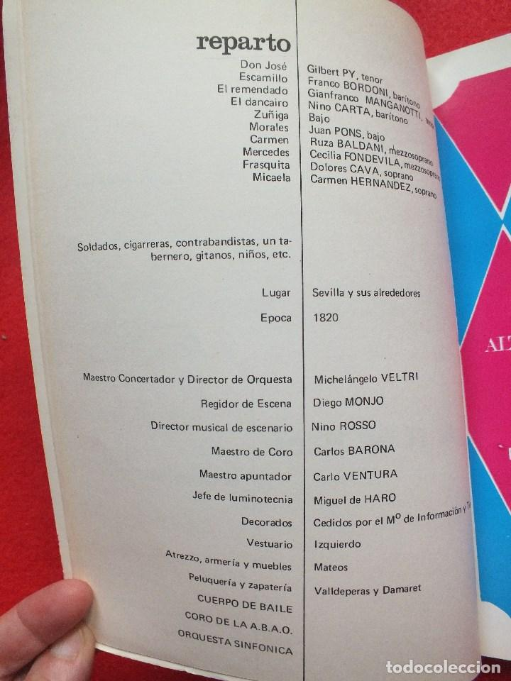 Libretos de ópera: ABAO BILBAO XXV FESTIVAL DE OPERA 1976 BIZET CARMEN LIBRETO CON ARGUMENTO, FOTOGRAFIA CORO - Foto 7 - 85056104