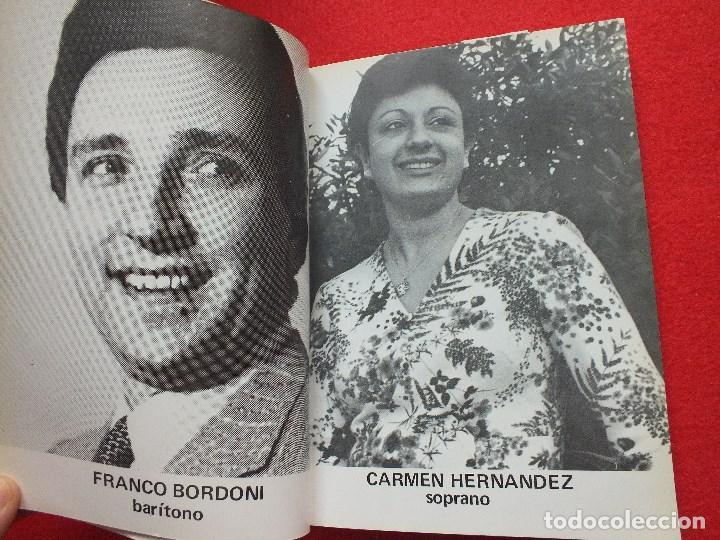 Libretos de ópera: ABAO BILBAO XXV FESTIVAL DE OPERA 1976 BIZET CARMEN LIBRETO CON ARGUMENTO, FOTOGRAFIA CORO - Foto 8 - 85056104