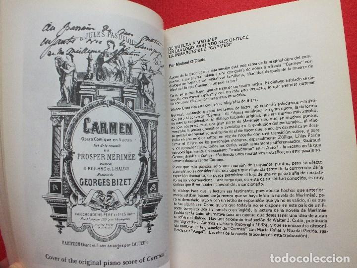 Libretos de ópera: ABAO BILBAO XXV FESTIVAL DE OPERA 1976 BIZET CARMEN LIBRETO CON ARGUMENTO, FOTOGRAFIA CORO - Foto 11 - 85056104