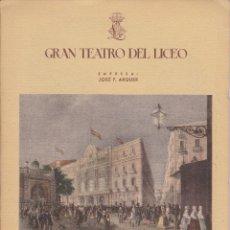 Libretos de ópera: ANTIGUO PROGRAMA GRAN TEATRO DEL LICEO - TEMPORADA DE INVIERNO 1947-1948 TANNHAUSER CON PUBLICIDAD. Lote 87536408