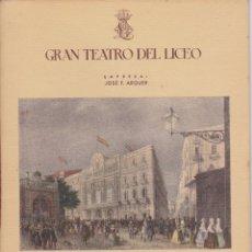 Libretos de ópera: ANTIGUO PROGRAMA GRAN TEATRO DEL LICEO - TEMPORADA DE INVIERNO 1947-1948 MANON LESCAUT. Lote 87537912