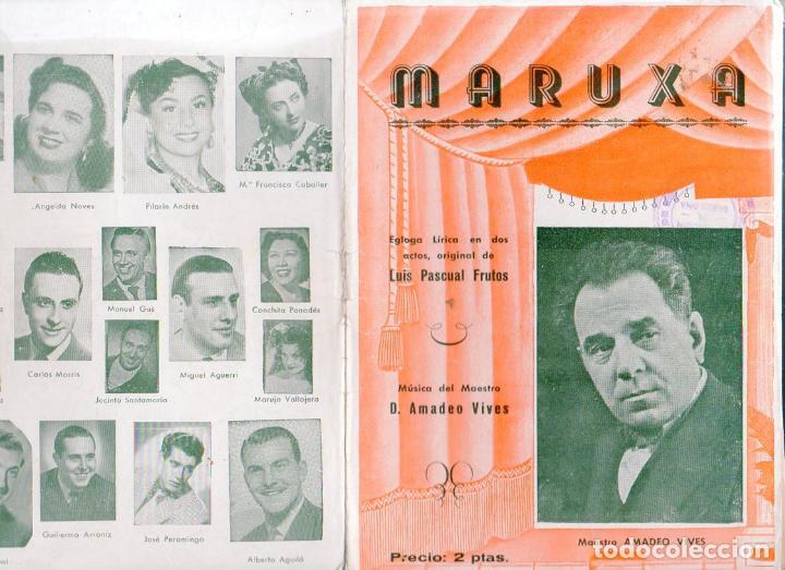AMADEO VIVES : MARUXA - ZARZUELA (Música - Libretos de Opera)
