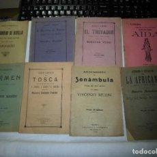Libretos de ópera: 8 ARGUMENTOS DE OPERA 1900 LEER LOS TITULOS Y DESCRIPCION. Lote 97447515
