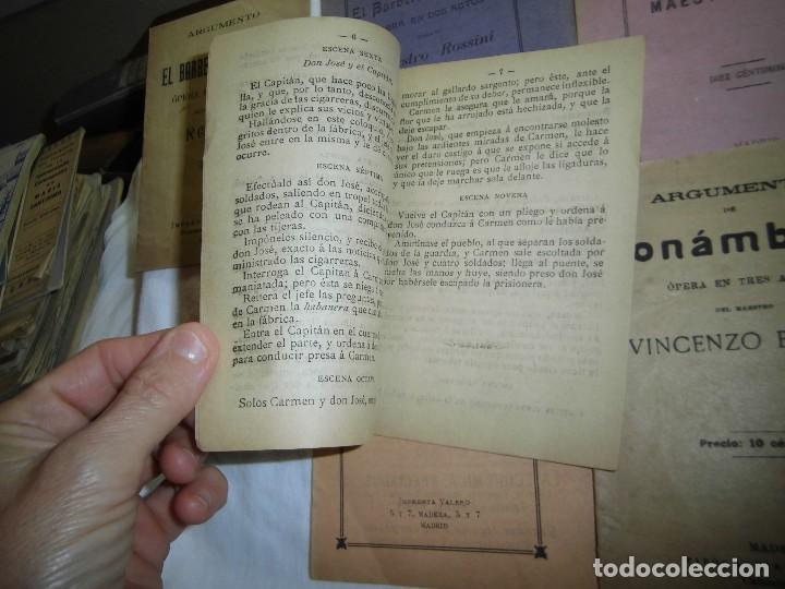 Libretos de ópera: 8 ARGUMENTOS DE OPERA 1900 LEER LOS TITULOS Y DESCRIPCION - Foto 2 - 97447515